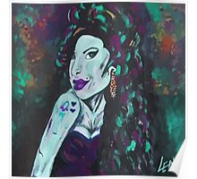 Amy Winehouse - original art by LeahG Poster