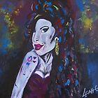 Amy Winehouse - original portrait by LeahG by Leah G