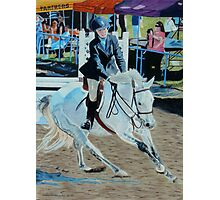Determination - Young Girl at a Horseshow Photographic Print