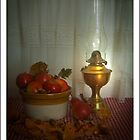 Lamp and Autumn Leaves by margo