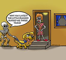 The Boney Walker. by NHR CARTOONS .