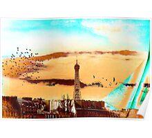Parisian Mosaic - Piece 20 - The Eiffel Tower Poster