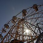 Ferris Wheel with Sun, Luna Park by Chris Samuel