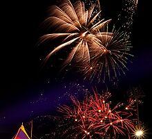 Sideshow Alley Fireworks, Brisbane Ekka 2011 by Jaxybelle