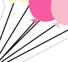 Black Spike Silhouette with Balloons Sticker