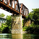 Norfork River Train Bridge by Carolyn Chentnik