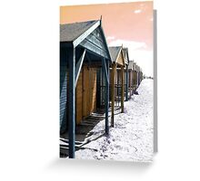 Beach Huts in a Row Greeting Card