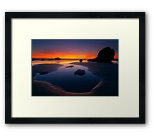 Stacks and Stones Framed Print