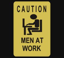 Caution - Men at Work  Kids Clothes