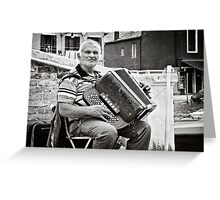 The Accordian Player Greeting Card