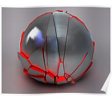 Silver Globe with Red Interior 1 Poster