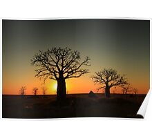 Sunset on the flats Poster