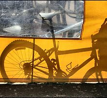 Bike And Shadow In Brighton And Hove by Jazzdenski