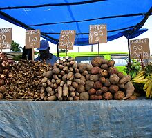 Cassava, Eddoes, Potatoes and Ginger by RevJoc