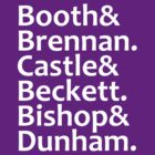 Booth, Brennan, Castle, Beckett, Bishop, Dunham by Fiona Reeves