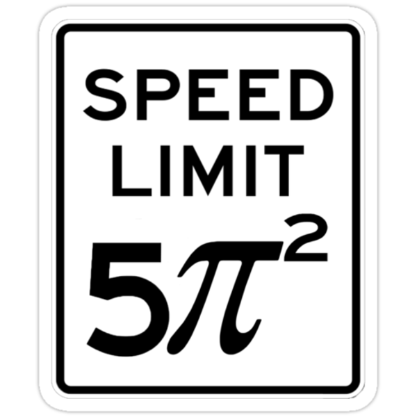 Speed Limit  5 Pi Squared by Charles McFarlane