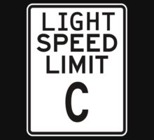 Light Speed Limit Sign Kids Clothes