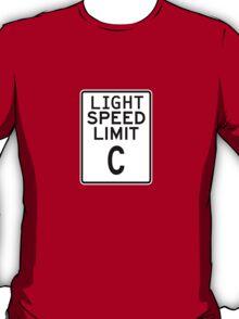 Light Speed Limit Sign T-Shirt