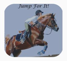 Jump For It! Horse T-Shirt by Patricia Barmatz