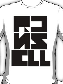 "Custom Graphic Name T-Shirt ""Black on White"" T-Shirt"