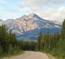 Mountain Road at Jasper National Park by Don Arsenault