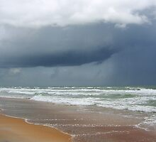 Flagler Beach, FL, storm coming by Lucy Albert