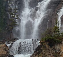 Waterfall, Jasper, Ice Fields Parkway by Lucy Albert