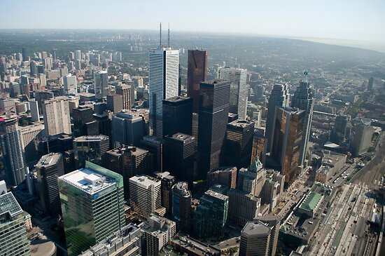 Looking Northeast from the CN Tower Main Pod Observation Deck by Gary Chapple