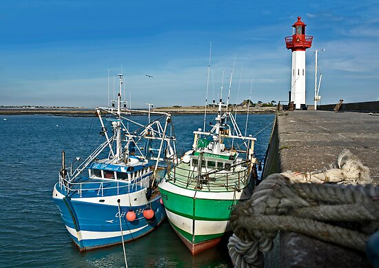 Fishing boats of St-Vaast-la-Hougue by cclaude