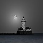 Chicago Lighthouse B&W by jnhPhoto
