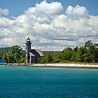 Grand Island East Channel Light by Jan Cartwright