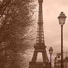 Eiffel in sepia by Anitajuli