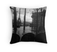 Cafe after the rain Throw Pillow