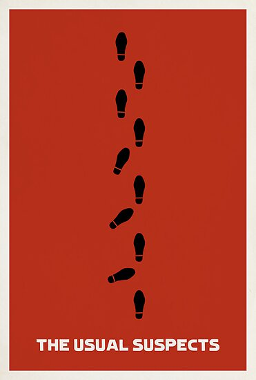 Minimalist Movie Poster: The Usual Suspects by Matt Owen