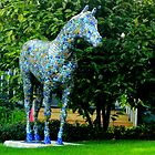A horse covered in bottlecaps  by anchorsofhope
