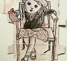 little girl in box by donnamalone
