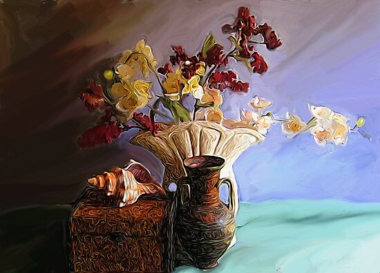 Still Life with Shell by suzannem73