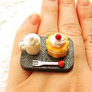 Coffee And Strawberry Shortcake Ring by souzoucreations