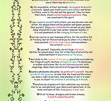 Desiderata by Max Ehrmann by Ginny Schmidt