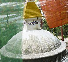 Stupa in Kathmandu, Nepal  by idoavr