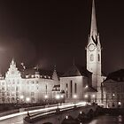 Church at night by idoavr