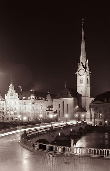 Church at night by idoavr