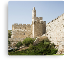 Tower of David, Jerusalem Canvas Print