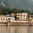 A view of the Ganges in Rishikesh, India  by idoavr