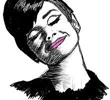 Audrey Hepburn Drawing by Me. by KerryLaurenHean