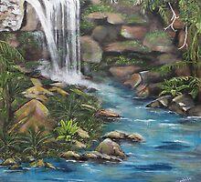 Curtis Falls, Mt Tamborine by CaDra