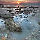 Nightcliff Rocky Sunset by Andrew Brooks