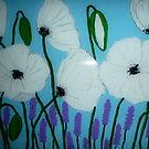 White poppies by machka