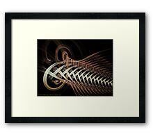 Unraveled Abstract Fractal Framed Print