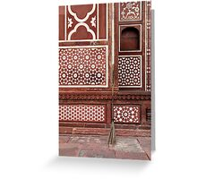 Gate of the Mausoleum of Itmad-ud-Daula, Agra Greeting Card